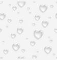 faded seamless pattern with 3d hearts vector image