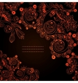 floral decorative background Template frame design vector image vector image