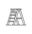 folding ladder line icon concept folding ladder vector image
