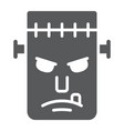 frankenstein glyph icon monster and halloween vector image