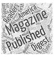 general interest magazine publishing Word Cloud vector image vector image
