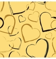 Golden seamless pattern with hearts vector image vector image