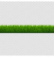 green grass border isolated transparent background vector image vector image