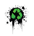 Grunge recycling vector image vector image