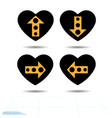 heart icon set a symbol of love valentine s day vector image