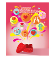 Heart Shape Gift Box Love Icons and Valentines vector image vector image