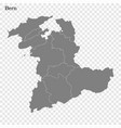 high quality map is a canton switzerland vector image