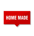 home made red tag vector image vector image