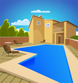 House With Swimming Pool vector image vector image