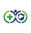 insurance health worker vector image vector image