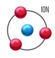 ion atom molecule education poster vector image