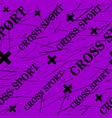 kinesio tape horizontal seamless pattern or vector image vector image