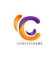 letter c gradient color technology logo vector image vector image