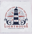 lighthouse emblem vector image vector image