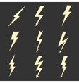 Lightning flat icons vector image