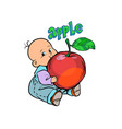 little baby favorite cute baby eating an apple