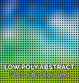 Low poly abstract background Green grass and sky vector image vector image