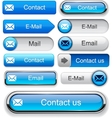 Mail high-detailed web button collection vector | Price: 1 Credit (USD $1)