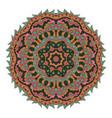 mandala zentangl round ornament relax meditation vector image