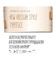 New Russian style typeface birch-bark background vector image