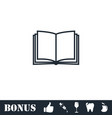 open book icon flat vector image vector image