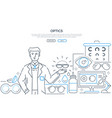 optics - modern line design style web banner vector image