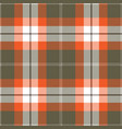 orange and gray tartan plaid seamless pattern vector image vector image