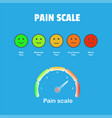 pain measurement scale icon vector image vector image