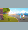 people riding bicycle roller-skates skateboard vector image