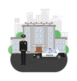 Police Building Composition vector image