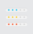 ranking stars for apps and services vector image