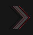 red line grey arrow overlap on dark blank vector image vector image