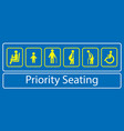 set priority seating sticker or label vector image vector image