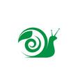 snail icon design vector image vector image