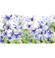 spring flowers bouquet card watercolor vector image vector image