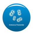 stretococcus pneumonidae icon blue vector image vector image
