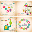 Template Christmas greeting cards vector image vector image