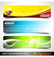 three abstract banner background vector image vector image