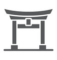 torii gate glyph icon japan and architecture vector image vector image