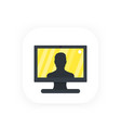 video call conference icon vector image
