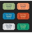 with set of tickets vector image