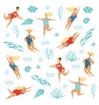women swimmers vector image vector image