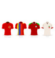 world cup group b team uniform vector image vector image