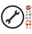 wrench icon with dating bonus vector image vector image