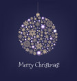 xmas card with christmas ball and stars vector image vector image