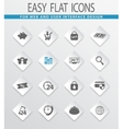 shopping marketing and e-commerce icon set vector image