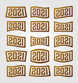 2021 number collection logo new year design vector image vector image