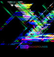 abstract colors angle shapes on a black vector image vector image