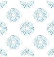 Abstract seamless pattern with blue circle vector image