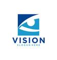 abstract vision logo image vector image